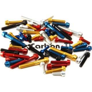 Carbon-Ti Aluminium Schraube M4x20 konisch 0,9g rot
