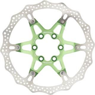 REVERSE Bremsscheibe Aluminium/Stahl Ø160mm (Hellgrün)
