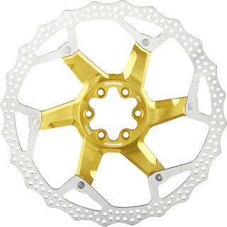 REVERSE Bremsscheibe Aluminium/Stahl Ø203mm (Gold)