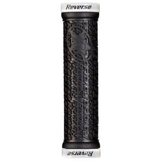 REVERSE Griff Stamp Lock On Ø30mm x 135mm (Schwarz/Weiß)