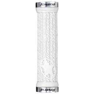REVERSE Griff Stamp Lock On Ø30mm x 135mm (Weiß/Silber)