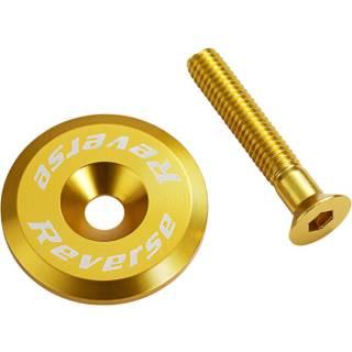 REVERSE Steuersatzkappe mit Schraube (Gold)