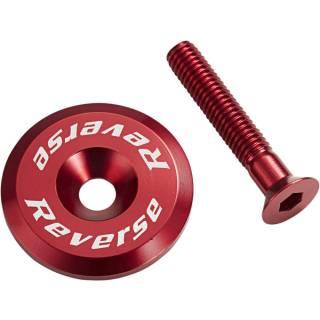 REVERSE Steuersatzkappe mit Schraube (Rot)