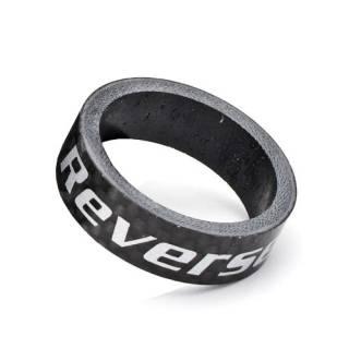 """REVERSE Spacer 10mm Carbon 1 1/8"""" (Schwarz)"""