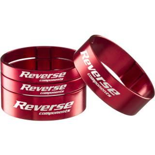 """REVERSE Spacer Set Ultra-Light 1 1/8"""" (Rot)"""