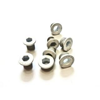 HiTeMP42 Kettenblattschrauben Alu 4 Stück für SRAM XX/X0/X9 weiss