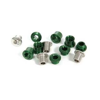 Truvativ Aluminium Kettenblattschrauben für 3-fach Kurbeln im 4er Set grün