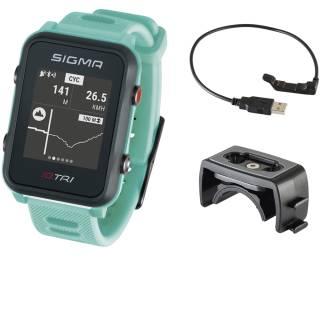 Sigma Sportuhr ID Tri neon mint Basic, GPS/Höhenmessung/Herzfrequenz/