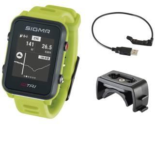Sigma Sportuhr ID Tri neon grün Basic, GPS/Höhenmessung/Herzfrequenz/