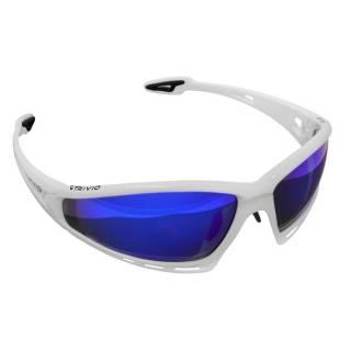 Trivio Sportsonnenbrille rahmenlos mit 3x Wechselgläsern Imaginair weiß-schwarz matt