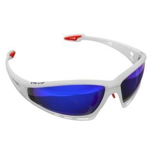 Trivio Sportsonnenbrille rahmenlos mit 3x Wechselgläsern Imaginair weiß-rot matt