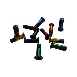 HiTeMP42 Schrauben Alu für Schaltwerksrollen 2er Set grün glänzend