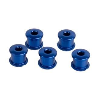 HiTeMP42 Kettenblattschrauben Alu 5 Stück blau