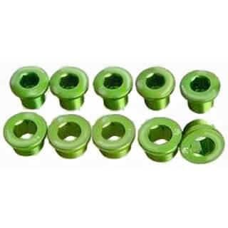 HiTeMP42 Kettenblattschrauben Alu 5 Stück grün