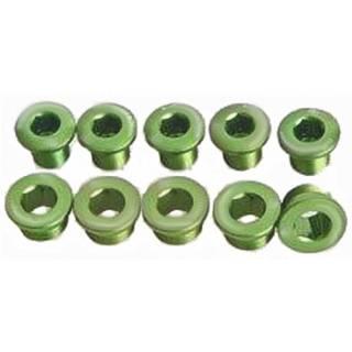 HiTeMP42 Kettenblattschrauben Alu 5 Stück grün glänzend