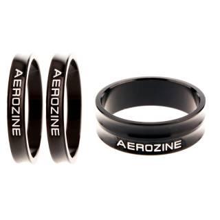 Aerozine Vorbau Spacer Ultralight 3-fach Set 2x5mm 1x10mm schwarz