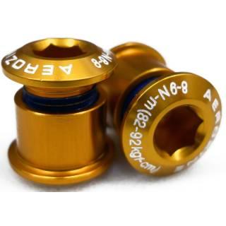 Aerozine Kettenblattschraube Alu für 2-fach Kettenblätter gold