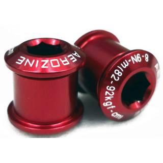 Aerozine Kettenblattschraube Alu für 2-fach Kettenblätter rot