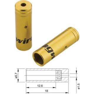 Jagwire Aluminium Endkappen gedichtet für Schaltaussenhüllen 4mm gold