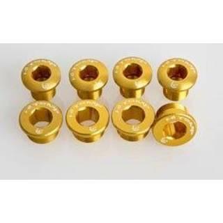 HiTeMP42 Kettenblattschrauben Alu für SRAM XX/X0/X9 gold