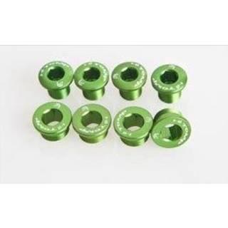 HiTeMP42 Kettenblattschrauben Alu für SRAM XX/X0/X9 grün
