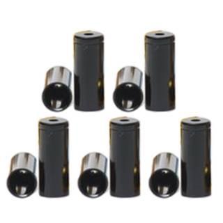 HiTeMP42 Endhülsen Alu für Aussenhülle 10 Stück schwarz 5mm