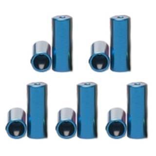 HiTeMP42 Endhülsen Alu für Aussenhülle 10 Stück blau 5mm