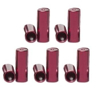 HiTeMP42 Endhülsen Alu für Aussenhülle 10 Stück rot 4mm