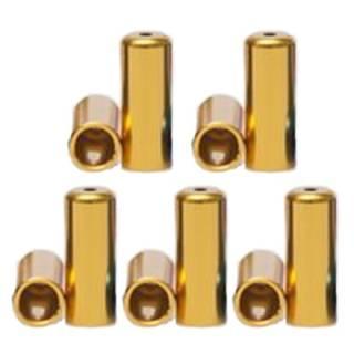 HiTeMP42 Endhülsen Alu für Aussenhülle 10 Stück gold 4mm