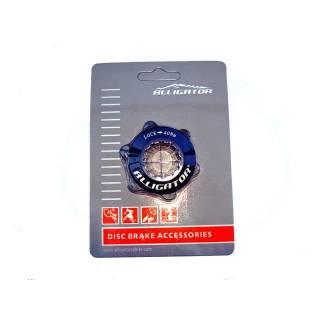 Alligator Centerlock Adapter auf 6-Loch Disc mit Verschlussring schwarz