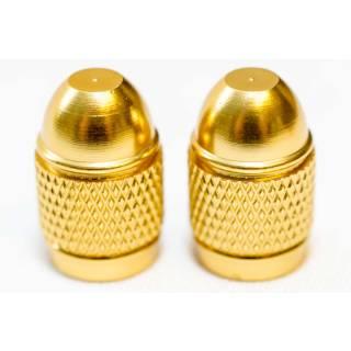 HiTeMP42 Ventilkappen Schrader Autoventil 2er Set gold