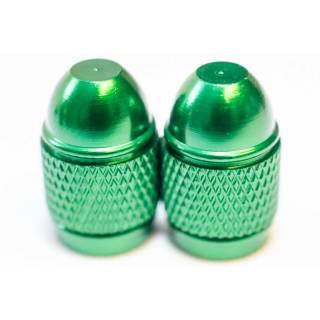 HiTeMP42 Ventilkappen Schrader Autoventil 2er Set grün