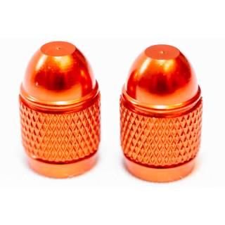 HiTeMP42 Ventilkappen Schrader Autoventil 2er Set orange