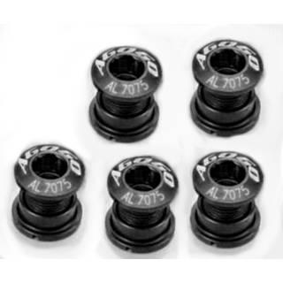 AGOGO Kettenblattschrauben aus Aluminium 5er Set schwarz