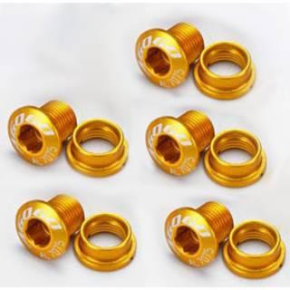 AGOGO Kettenblattschrauben aus Aluminium 5er Set gold