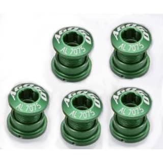 AGOGO Kettenblattschrauben aus Aluminium 5er Set grün