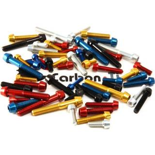 Carbon-Ti Aluminium Schraube M5x25 konisch 1,2g blau