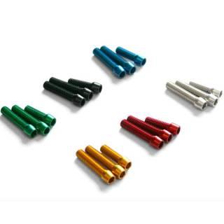Carbon-Ti Aluminium Schraube für Schaltwerke oder Umwerfer M4x18mm rot