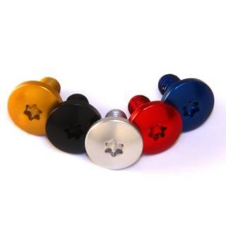 Carbon-Ti Aluminium Schraube für Bremsscheiben M5x10 T25 0,9g gold