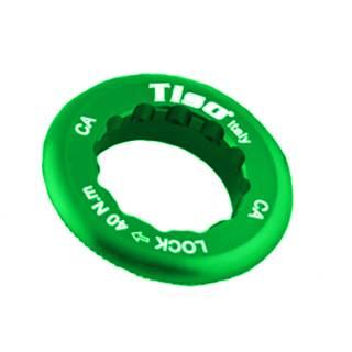 TISO Kassettenabschlussring Aluminium Campagnolo 12T-13T Zähne grün