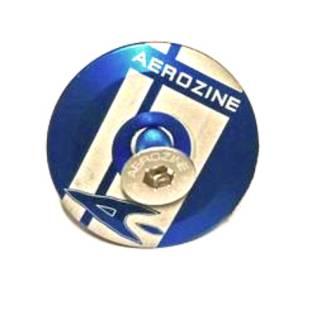 Aerozine Headset Kappe 7,5g Set mit Kralle und Aluschraube mit Logo blau